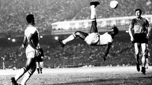 image of Pele doing bicycle kick