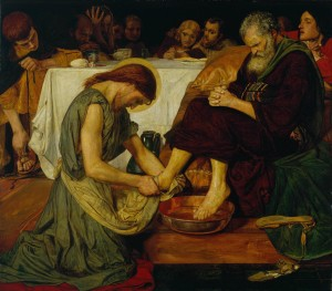 Jesus Washing Peter's Feet (by Ford Madox Brown): The exceptionalism of Jesus.
